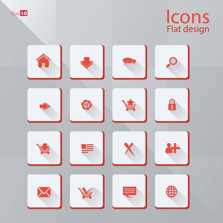 Icon concepts in flat design style.  photo