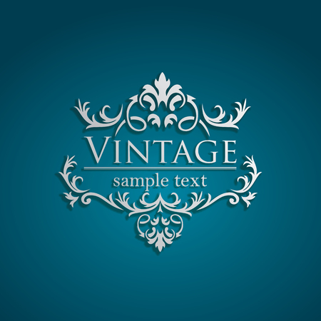 baroque frame: Royal Vintage Design indeitable vector format