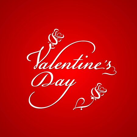 holidays: Valentines day script lettering background Illustration