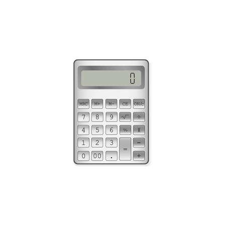 Calculator on white background, vector illustration  イラスト・ベクター素材