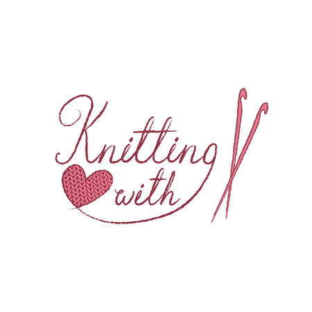 The knitting badges, labels and logo elements, symbols for local yarn shop, knit club, handmade artist or knitwear company. Ilustrace