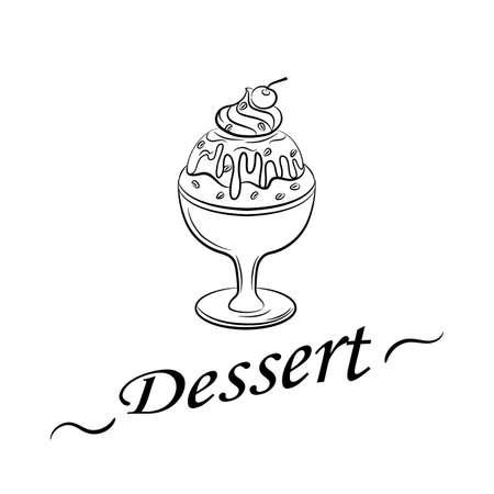 Background for bistro, restaurant, cafe, menu with ice cream- eps10 Imagens - 131601299