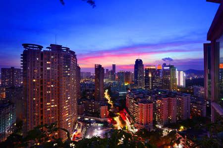 futian: Shenzhen town landscape
