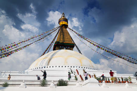 the stupa: Great Stupa Stock Photo