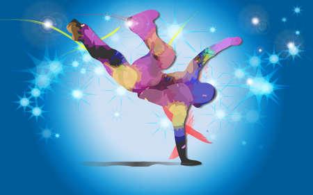 Bailarín de Hip Hop Ilustración de vector