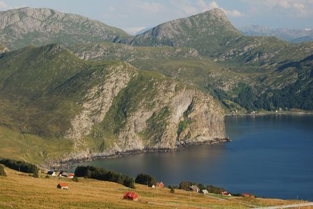 Picturesque coast in Western Norway photo