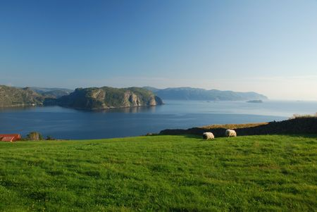western slope: Picturesque coast in Western Norway