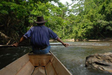 green boat: Boat trip in Taman Negara, Malaysia