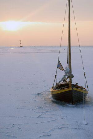 baltic: Baltic Sea in winter, Polish coast