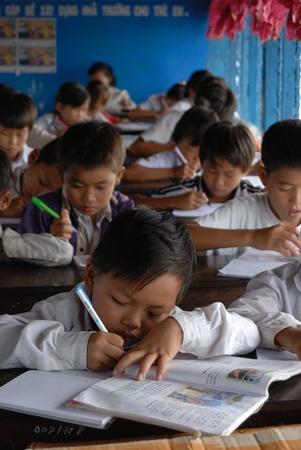tonle sap: Local school on Tonle Sap lake, Cambodia. November 2010