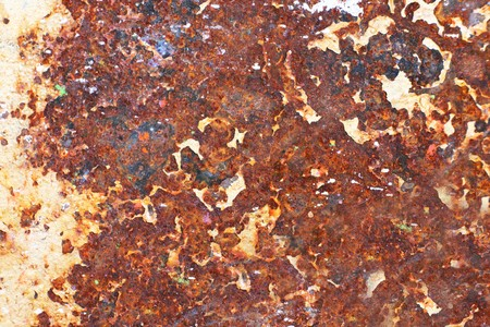 Plate of metal rusty on all background, with old layers of a paint Stock Photo - 4401417