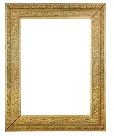 Gold Plated Wooden Picture Frame Stock Photo - 4401383