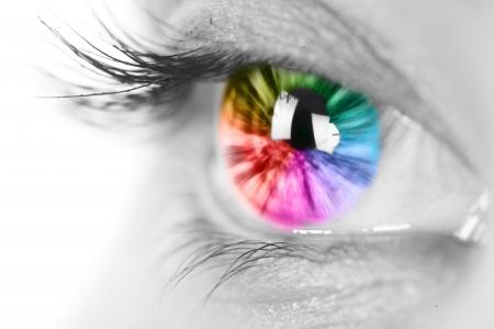 globo ocular: Colorido ojo