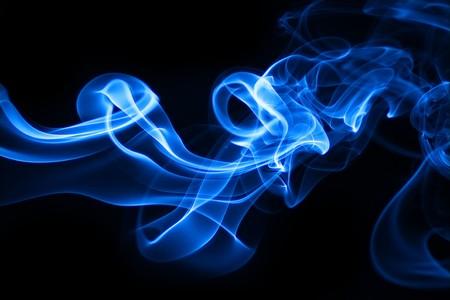 Blue smoke photo