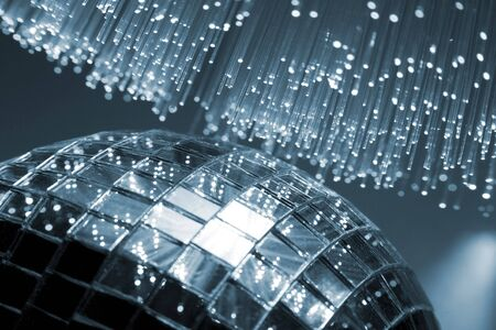 Fiber optical background with lots of light spots Stock Photo - 4716734