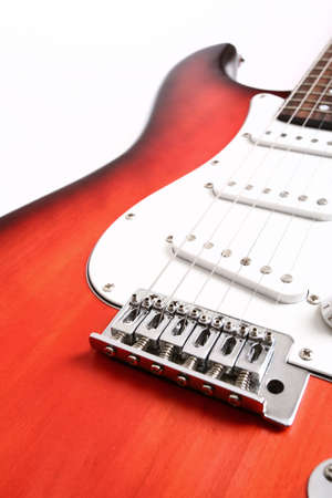 gibson: Guitar isolated on white