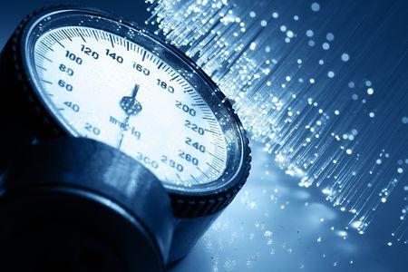 Fiber optics background with lots of light spots Stock Photo - 6356580