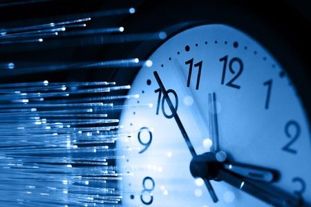 time machine: Fiber optics background with lots of light spots