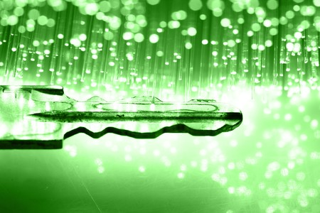 Fiber optics background with lots of light spots Stock Photo - 7668896