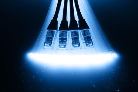 fiber optics: Fiber optics background with lots of light spots
