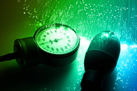 Fiber optics background with lots of light spots Stock Photo - 7709259