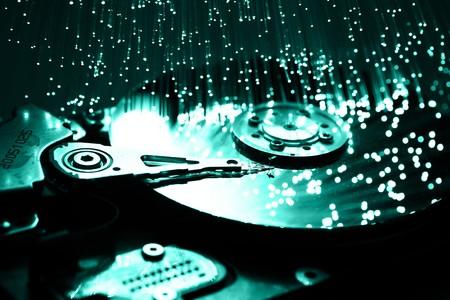 Fiber optics background with lots of light spots Stock Photo - 7708748