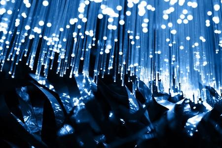 musica electronica: Fondo de fibra �ptica con una gran cantidad de manchas claras  Foto de archivo