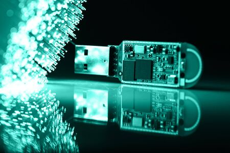 Fiber optics background with lots of light spots Stock Photo - 7708823