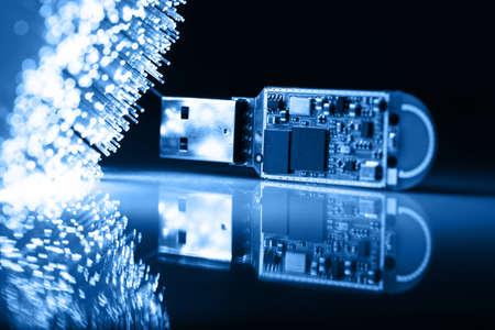 Fiber optics background with lots of light spots Stock Photo - 7708817