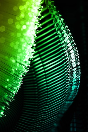 Fiber optics background with lots of light spots Stock Photo - 7709248