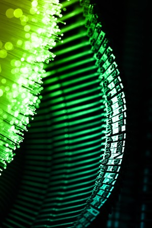 Fiber optics background with lots of light spots Stock Photo - 7708864