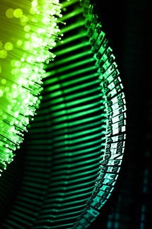 Fiber optics background with lots of light spots Stock Photo - 7708864
