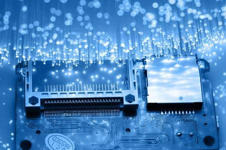 Fiber optics background with lots of light spots Stock Photo - 7801857