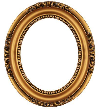 mirror frame: Vintage gold picture frame