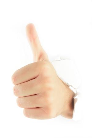 Hand punching through  Stock Photo - 9103268