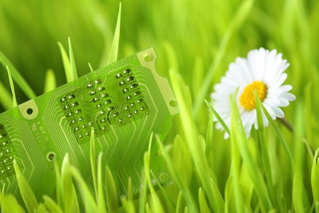 Green electric technology Stock Photo
