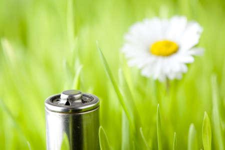 battery on a fresh grass photo
