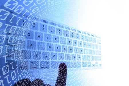 Conceptual image for data inetrnet  and binary background  Standard-Bild