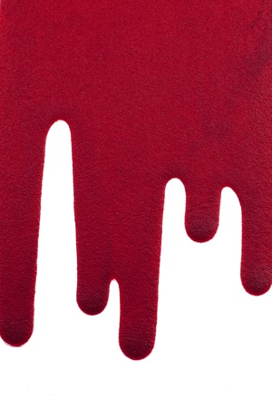 Dripping blood on White Background  photo
