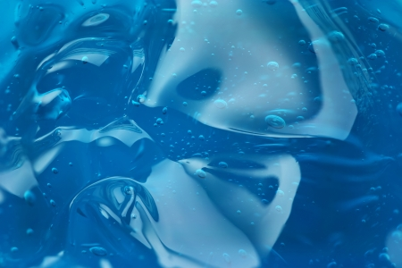 jabon liquido: Burbujas en gel azul abstracto