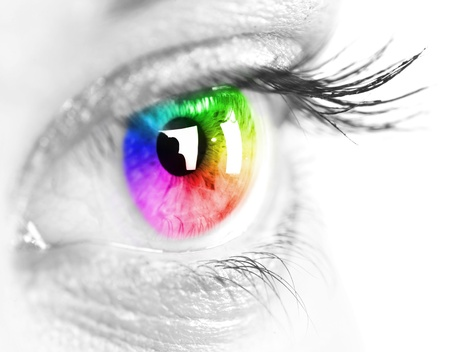 Colorful eye photo