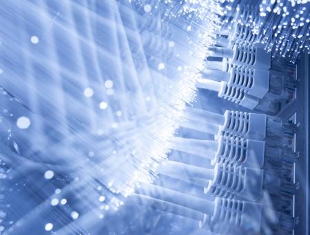 fibra óptica: Fibra óptica de fondo con muchos puntos de luz