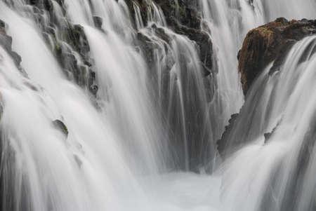Bruarfoss waterfall Iceland long exposure close up