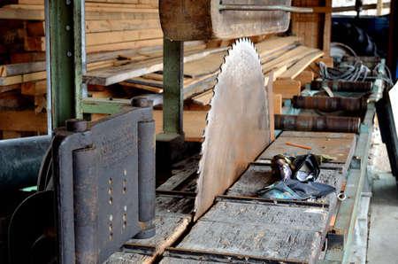 old fashioned sawmill Фото со стока