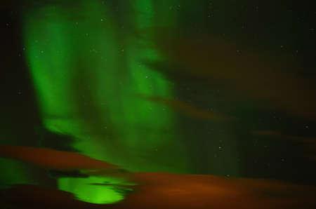 polaris: Aurora borealis in the autumn night in Norway
