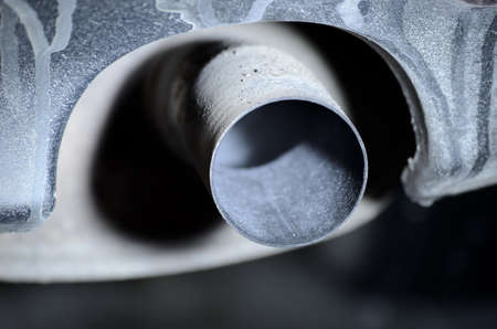 tailpipe: car exhaust tailpipe