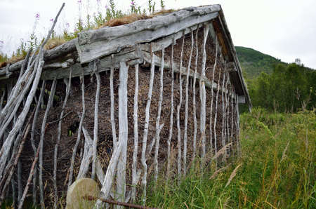 saami: old saami house in northern norway Editorial