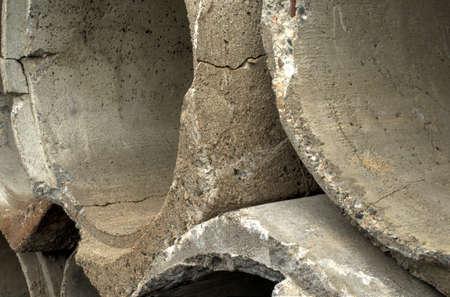 culvert: concrete culvert stack in pile