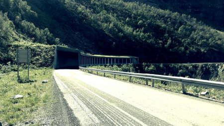 tunneling: Protecting semi tunnel in mountain side senja island