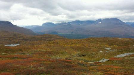 serenety: Lush colourful mountain landscape nature in autumn beauty Stock Photo